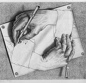 M.C. Escher at Work