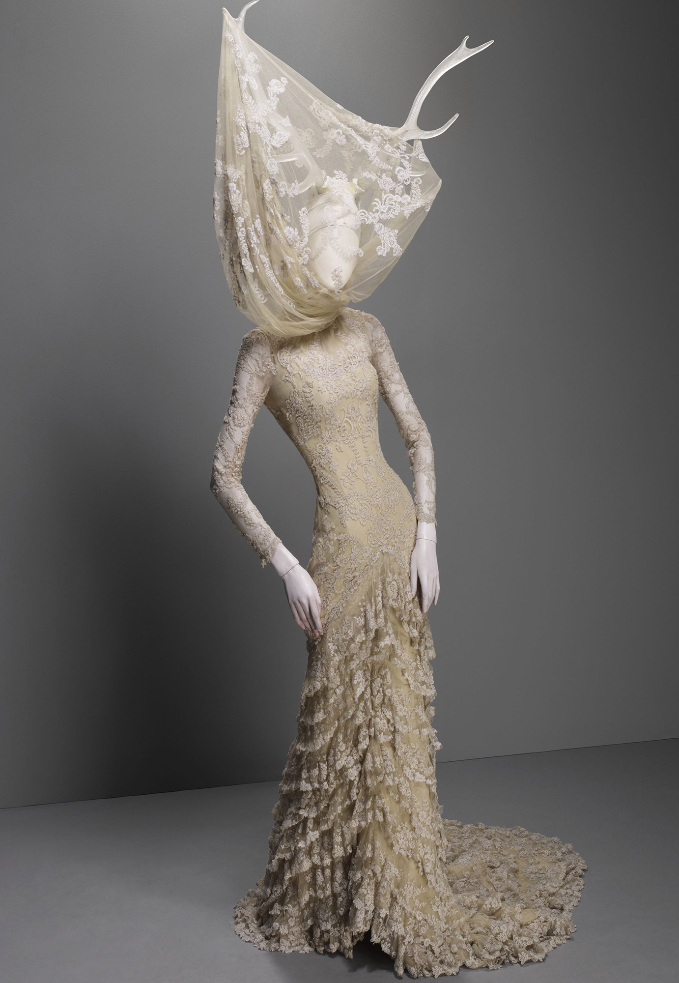 Widows of Culloden, autumn/winter 2006–7 Cream silk tulle and lace with resin antlers