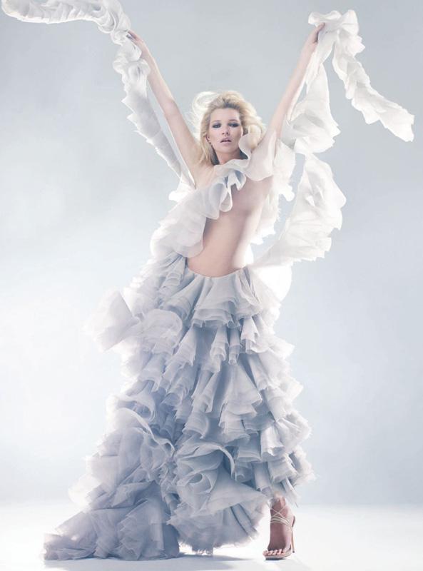 """The Real McQueen"" Harper's Bazaar May 2011, Model: Kate Moss, Photographer: Solve Sundsbo"