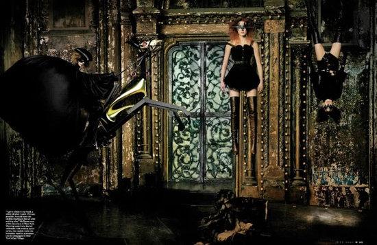"""""""McQueen's Kingdom"""" W Magazine July 2002, Photographer: Steven Klein"""