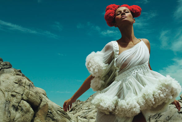 """Kiss The Sky"" W Magazine August 2008, Model: Gisele Bundchen, Photographers: Mert Alas and Marcus Piggott"
