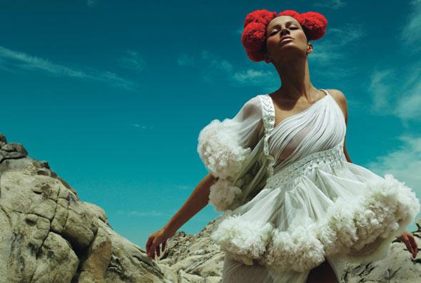 """Kiss The Sky"" W Magazine August 2008, Model: Gisele Bundchen, Photographers: Mert Alas and Marcus Piggott"
