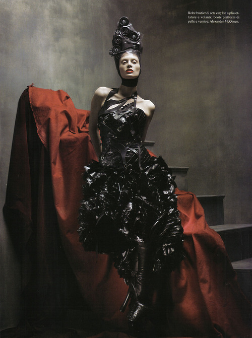 """McMenamy: The Legend"" Vogue Italia July 2009, Model: Kristen McMenamy, Photographer: Steven Meisel"