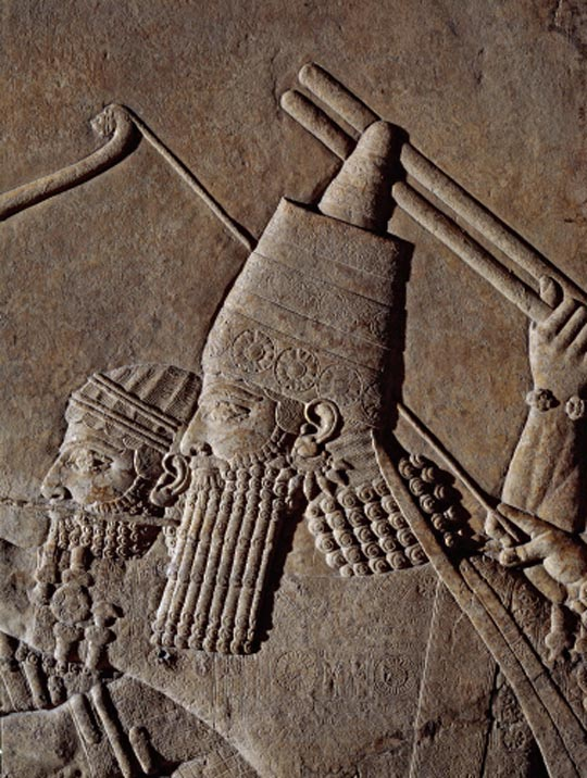 Ashurbanipal on a chariot
