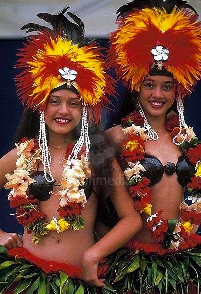 Tahitian Dancers in Bora Bora